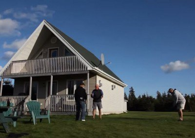 Golfers at Swept Away Cottages